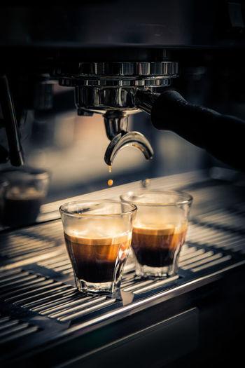 Beverage Close-up Coffee Coffee Time Coffemachine Drink Drop Espresso Freshness Preparation  Refreshment Still Life Taste Good