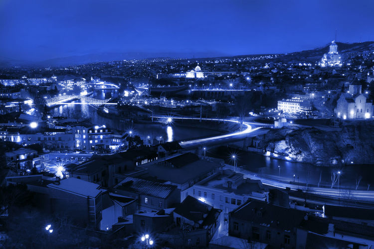 Tblisi in blue