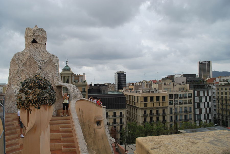 Architecture Barcelona Barcelona, Spain Building Exterior Built Structure Business Finance And Industry Casa Mila Casa Mila ( La Pedrera ) Casa Milà Gaudì City Cityscape Cloud - Sky Day Gaudi History No People Outdoors Roof Sculpture Sky SPAIN Statue Travel Destinations Urban Skyline View