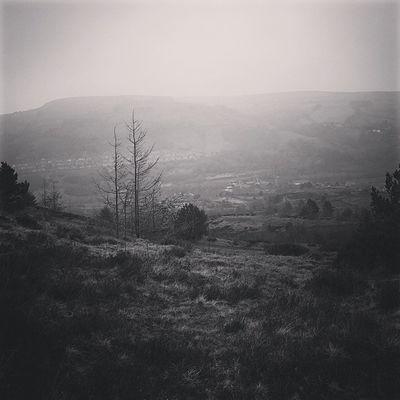 Murky day in the village. Trehafod Wales Mono Igwales