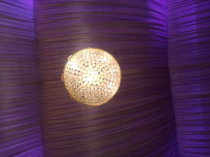 Directly below shot of illuminated lamp