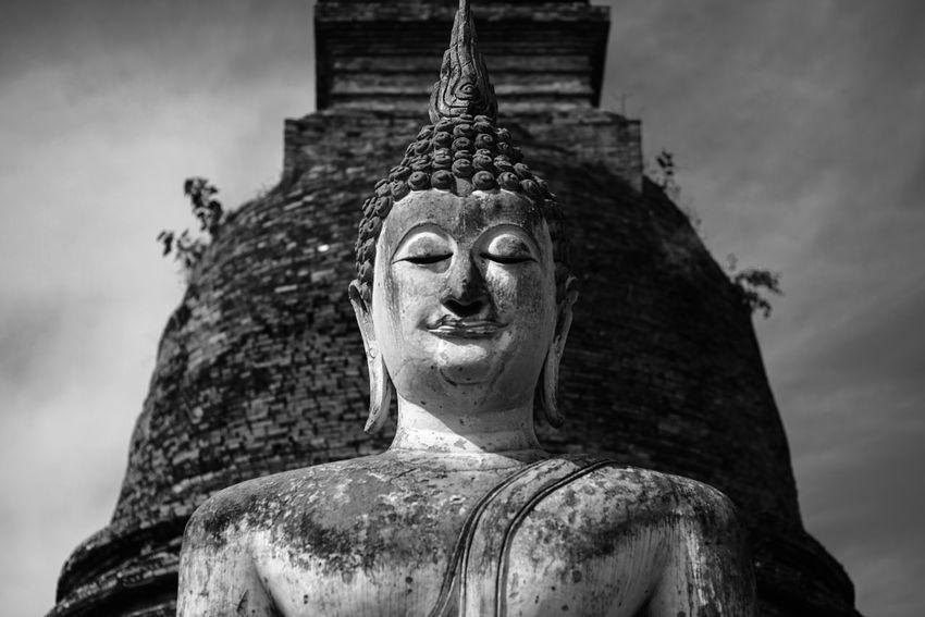 Black & White Buddha Sukhothai Historical Park Sukhothai, Thailand Thai Thailand Black And White Buddha Statue Buddhism Clam Religion Sukhothai