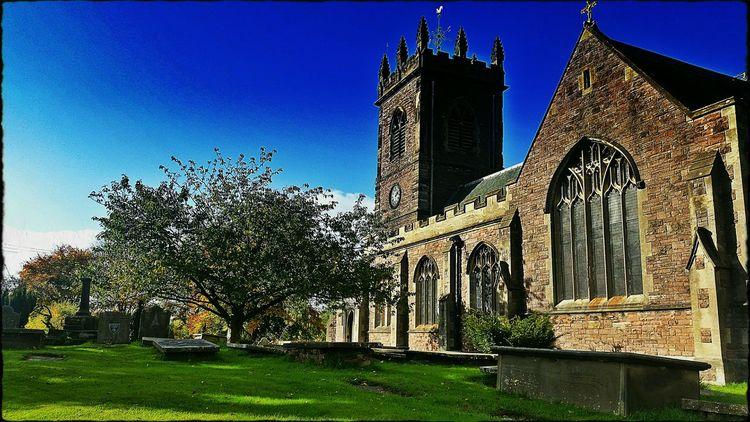 In A Country Churchyard Deep Blue Sky Old Church Beautiful England Village Church