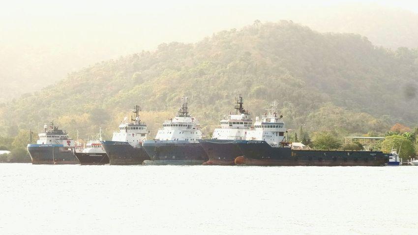 Trinidad And Tobago Port Of Spain Samsung Kzoom Carenage At The Beach Enjoying The Sights Ships