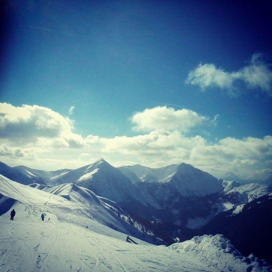 Skiing Snow Mountains Clouds Sun Sunshine Beautiful Weather Nice Love Iloveskiing Goldeck Austria Ski Skifahren