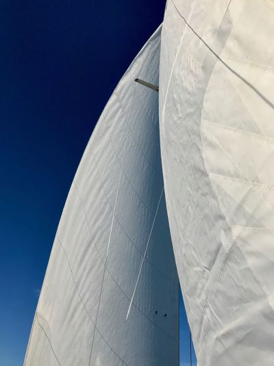Saisonverlauf Segeln Sailing Ship Low Angle View No People Blue Sky Day Nature White Color Outdoors Sunlight Clear Sky Nautical Vessel