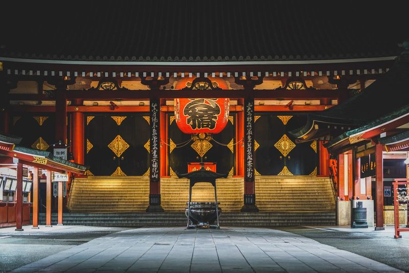 senso-ji Architecture Built Structure Building Exterior Outdoors Travel Destinations Spirituality One Person Day City Sky People Discoverjapan Japan Traditional Architecture Nightshooters Temple