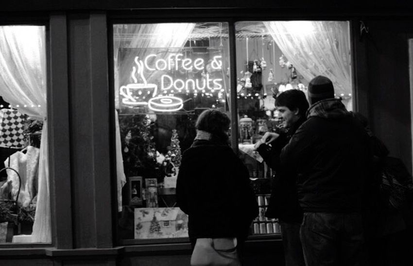 Coffee And Donut Coffee Donuts Store Hanging Out Friendship