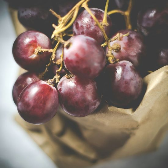Grapes in paper bag Grapes Fruit Closeup My World Of Food