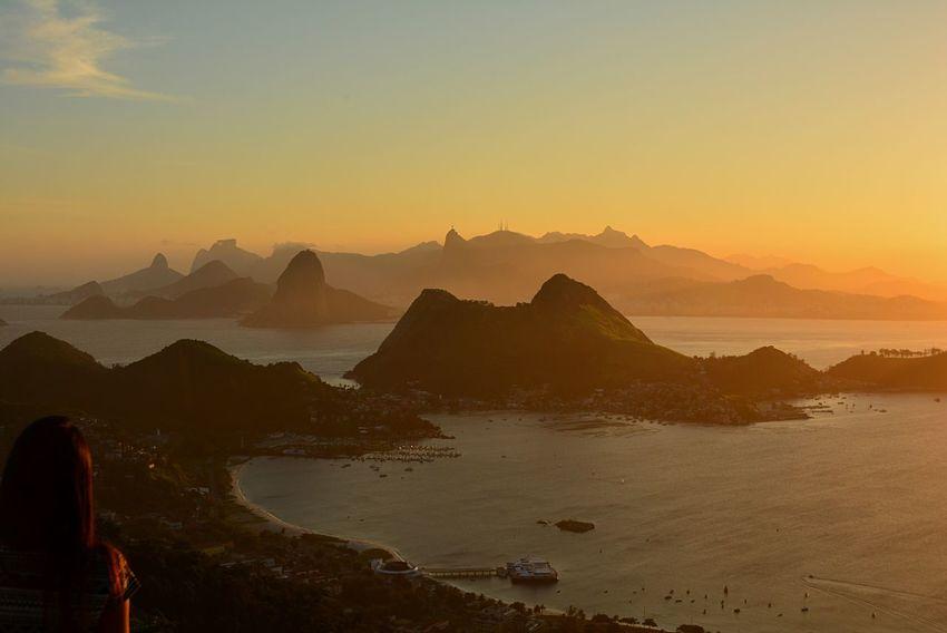 Aerial Shot Niterói Riodejaneiro