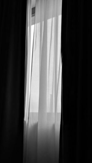 Curtain Window Indoors  No People Home Interior Day Hanging Textile Drapes  Close-up Black&white The Week On EyeEm