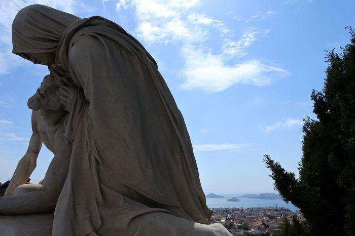 Sculpture Architecture Art Jesus Christ Marseille