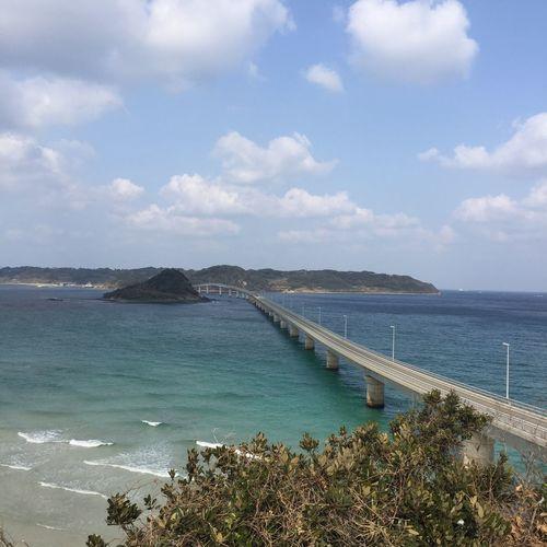 Yamaguchi, Japan Japan Tsunoshima Bridge Sea Water Sky Nature Beauty In Nature No People Scenics