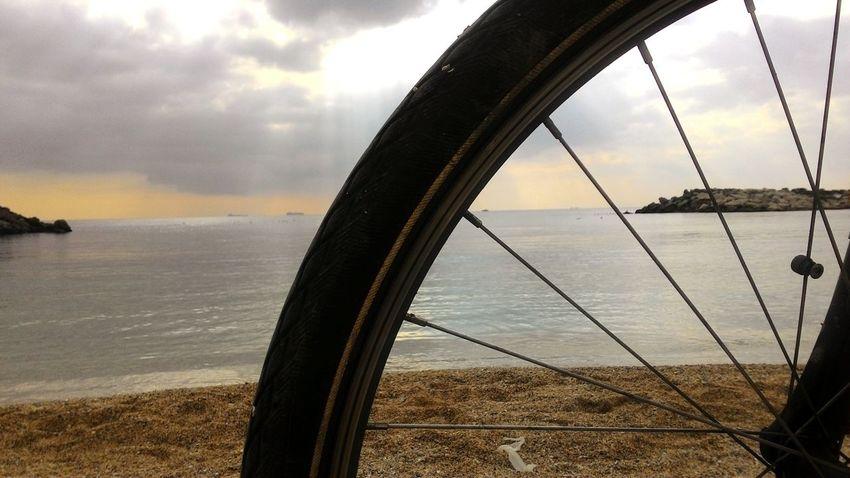 Water Beach No People Nature Konstantinapolis Outdoors Relaxing Bicycle Rack Cylisttürkiye Day Sea Cloud - Sky Sky Sunset Close-up