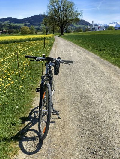 Bicycle on field