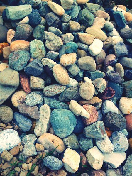 Colorfull Art Pebble Pebble Beach Close-up Full Frame