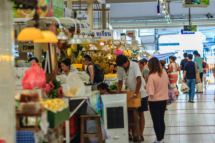 Bangkok, Thailand - April 23, 2017: Or Tor Kor Market (Marketing Organization for Farmers) is ranked as one of the 10 world's fresh market by CNNGo. Located near the famous Chatuchak weekend market.