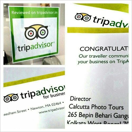Trip Advisor sent us a review sticker! TripAdvisor Calphototours Bestphototour