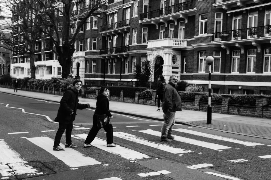 City Real People Day The Beatles Famous Crossing Famous Place Abbey Road Studios Making Memories<3 February 2017 Family Time Canon Eos  Eyeem Market EyeEm Gallery Eyeemphotography Taking Photos Enjoying The Moment Canon Eos  London Life City Outdoors Old Street Blackandwhite Photography Take 2