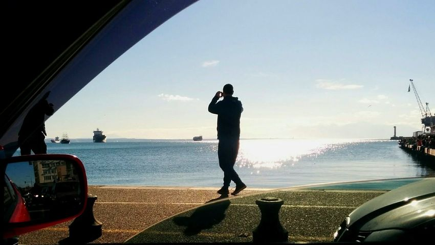 People Water Sea Mobilephotography Thessaloniki,Greece 🙈🙉🙊✌ Beatiful Day