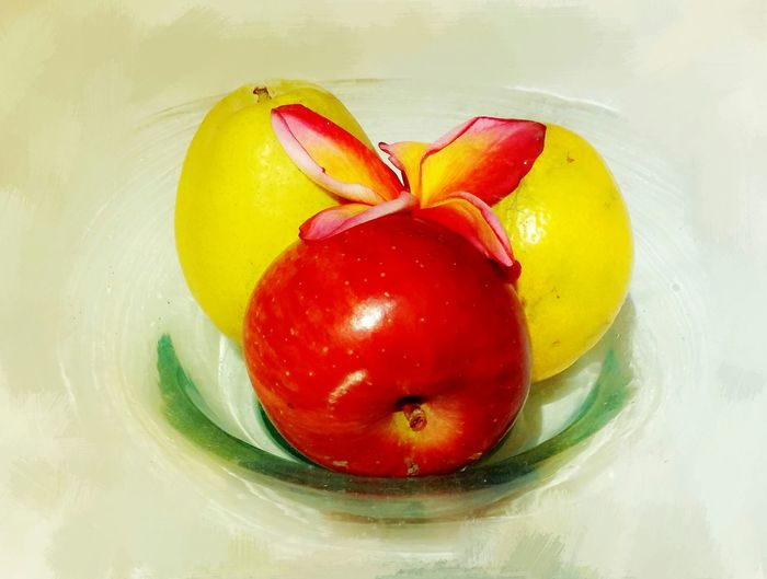 ArtWork Fruits Check This Out Apel Malang Painterly Taking Photos Lemons