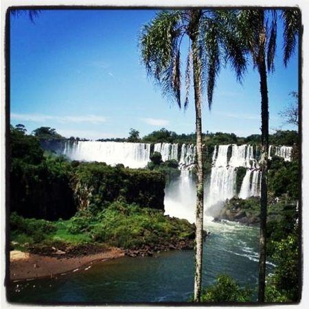 Argentina Iguazu Waterfalls Southamerica Iguazu Falls Iguazu 🌈🔆 Argentina Photography Argentina 👑🎉🎊👌😚😍 Traveling Roadtrippin' Summer Watherfall Watherfalls Sky Sun Palm Tree Eden Heaven Heaven On Earth Heavenly