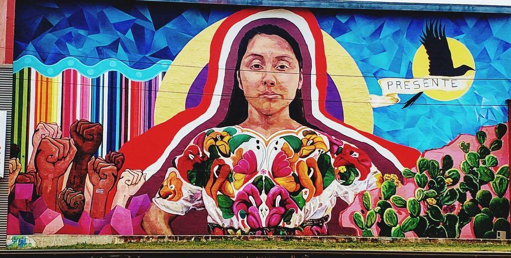 A mural in