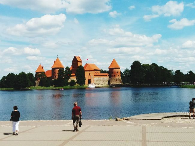 L4l F4F Lithuania Nature Lithuania Trakai Trakai Island Castle Trakai Castle Lithuanian Nature Trakai, Lithuania OneFilter Beautiful Lithuania Travel Nature Water City Lake Tree Place Of Worship Sky Architecture