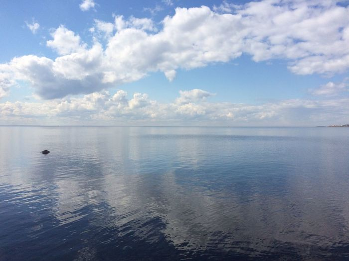 Финский залив Water Sea Sky Beauty In Nature Reflection Finding New Frontiers