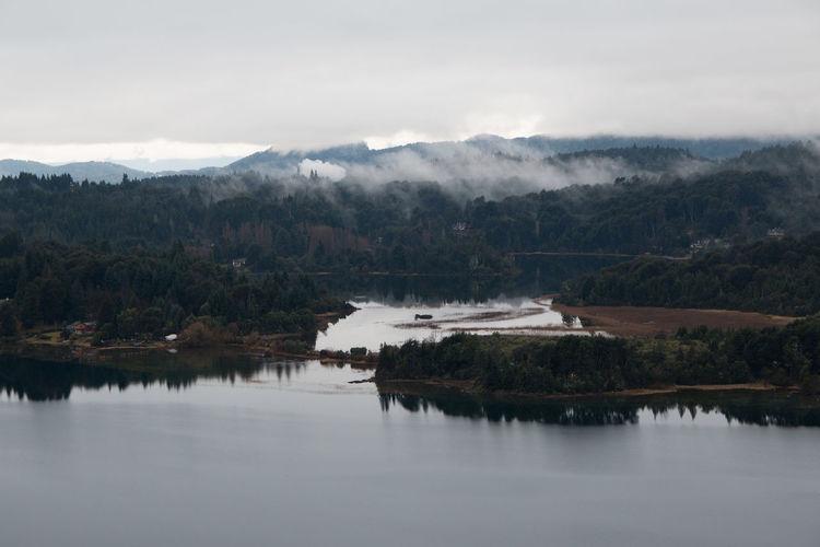 Foggy lake in argentina