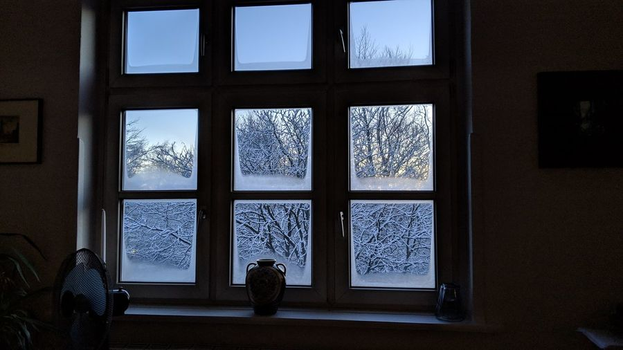 Winter window. Hamburg Germany Hh Barmbek Window Window Frame Windows Window View Darkness Winter Silence Symmetry Mystery Interior Interior Design Snow Ice Vase Blue Cold Window Silhouette