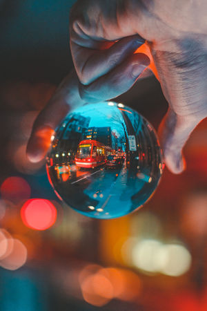 New Night Colorful Street Getting Inspired Holding Centered Metro Transportation Circular Crystal Ball Bokeh City Cool Getty EyeEm EyeEm Best Shots Hand Blue Evening Eye4photography  EyeEm Gallery Popular New Human Body Part Close-up Illuminated One Person People One Man Only
