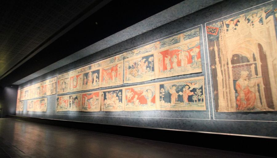 The Apocalypse Tapestry in Angers, France Angers, France Apocalypse Tapestry Day Indoors  No People The Apocalypse Wall Art Photography Wall Tapestry