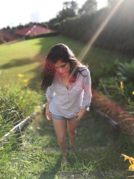 Sun Light Sun Nature People Day Outdoors Woman Stairs Flowers View Mountain Hair And Wind Fresh Life Costa Rica 🇨🇷 Green Naturelovers Beautiful Forest ❤ EyeEmNewHere