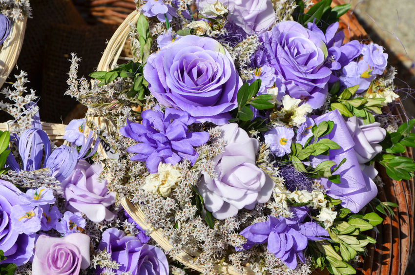 Beauty In Nature Bouquet Bouquet Of Flowers Close-up Decoration Dried Bouquet Dried Flower Dried Flowers Flower Flower Head Flowers Fragility Freshness High Angle View Nature Petal Purple Purple Flower Purple Flowers