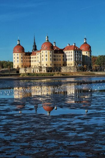 Schloss Moritzburg EyeEm Nature Lover Outdoor Photography EyeEm EyeEmBestPics EyeEm Best Shots EyeEmNewHere Germany Dresden Water Architecture Building Exterior Built Structure Building Blue Reflection Sky Nature City No People Travel Destinations Travel Clear Sky Place Of Worship Religion Waterfront History Tower