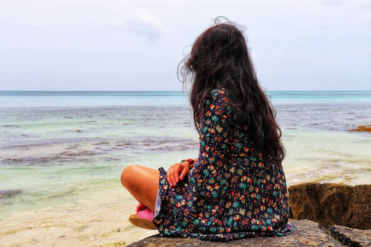 Beauty Photography Beauty In Nature Lovely India Andaman Andaman Islands Me Posing Portrait View Sandy Beach Blue Wave Water Sea Young Women Wave Beach Women Sand Rear View Sky Horizon Over Water Beach Holiday Shore Sandy Beach