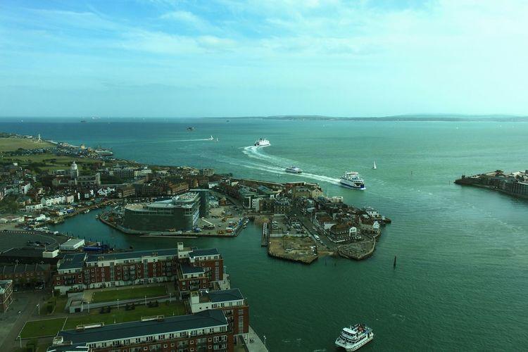 Sea Portsmouth Harbour Ships Cruise Ships Civilization Portsmouth United Kingdom