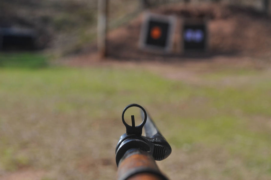 Looking Through the Sight of my Mosin Nagant Rifle Gun Gun Nugget Target Wood Ammo Ammunition Bayonet Bullet Bullets Distance Equipment Hunting Looking Through Measure Military Mosin Mosin Nagant Range Rangefinder Rifle Shooting Sight Sport Sword War