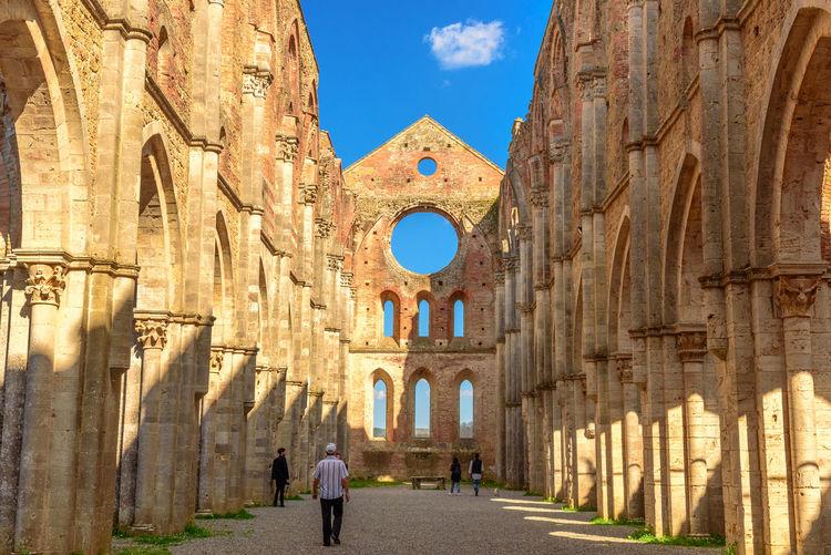 The abbey of san galgano against sky