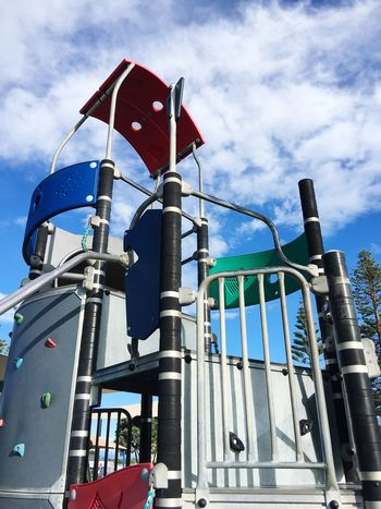 Fun playground Low Angle View Outdoors Playground Playground Equipment Playground Fun Playground Structure Children's Playground