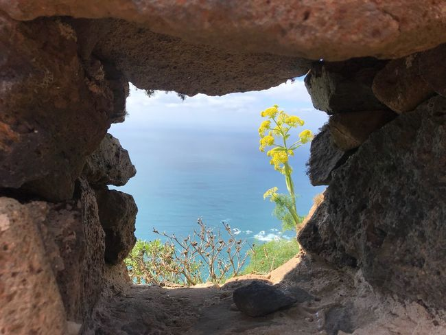 Canary Islands Lanzarote Island Window View Rock Rock - Object Solid Sea Rock Formation Go Higher Tranquil Scene Go Higher