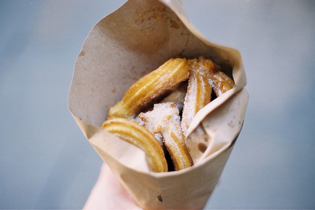 Close-up of churros
