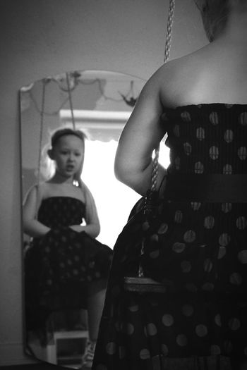 Mirror Reflection Girl In The Mirror Inside The Mirror Mirror Shot Little Girl Learn & Shoot: Balancing Elements Monochrome Cute Girl Monochromatic Mirrored Portrait Of A Girl Black And White Portrait Blackandwhite Blackandwhite Portrait Girl On Swing Shades Of Grey In The Mirror Mirror Image Littlegirl Shadows & Lights Girl Swinging Mirror Dreamer Girl Blurry Kids Portrait