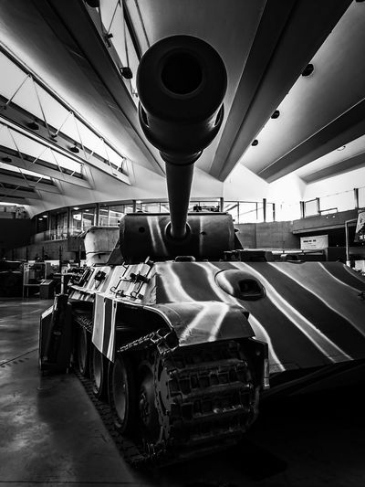 Built Structure No People Indoors  Transportation Tank Museum Bovington Tanks Museum Warfare Army Vehicles Tracked Vehicle Black And White Photography War Machines Camouflage World War 2 Architecture
