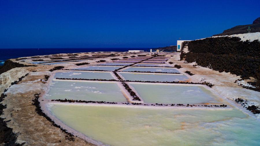 Salinas de fuencaliente, salt farms in la palma canary island