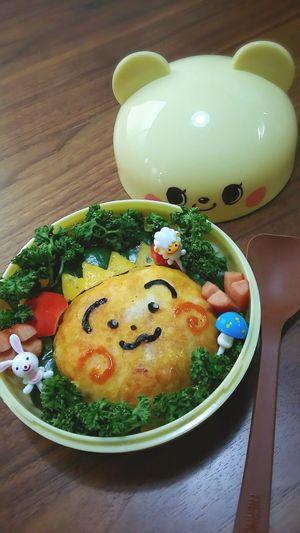 今日の娘っち🍱 コジゴジ Japanesecharacter お弁当 Bento Box Bento Enjoying A Meal Foodporn (;´・ω・)ウーン・・・納得いかない
