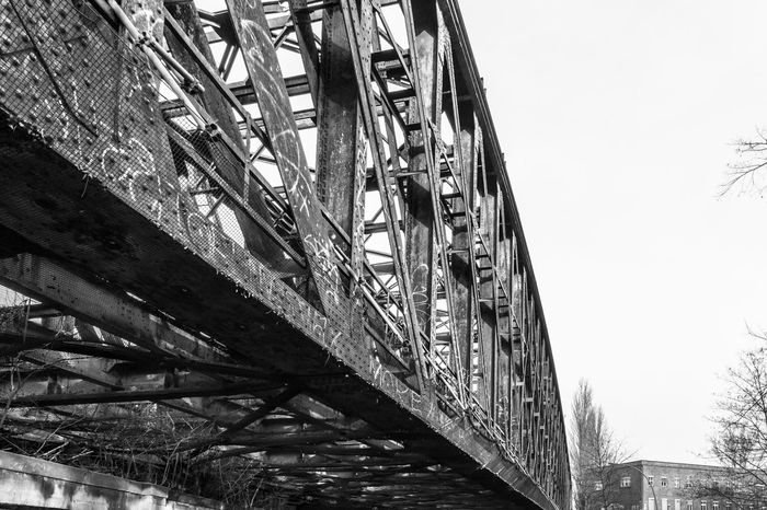 Architecture Berlin Berliner Ansichten Black And White Blackandwhite Bridge - Man Made Structure Built Structure City City Life Damaged Day Decrepit No People Rosty Bridge Schwarzweiß Streetphotography