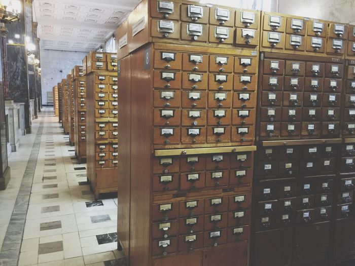 Old school paper catalogs at the Russian National Library Rus2015tc Traveling