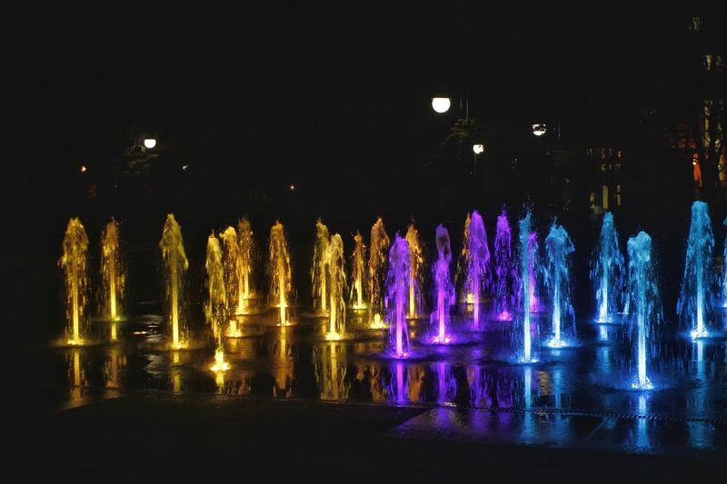 Symphony from light Night Arts Culture And Entertainment Fontains Outdoors No People Plovdiv, Bulgaria Plovdiv2019Together интересни места в България